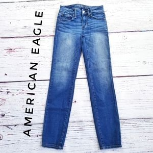 American Eagle Blue Skinny Jeans